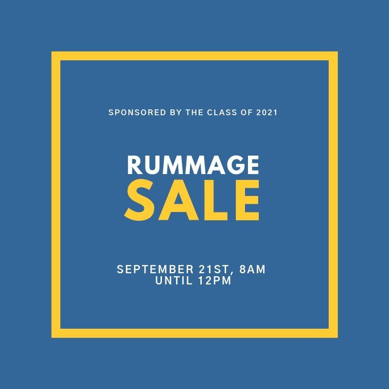Class of 2021 Rummage Sale